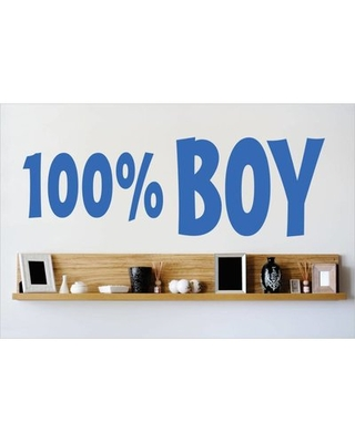 """100% Boy Wall Decal Design With Vinyl Color: Blue, Size: 10"""" H x 40"""" W x 0.16"""" D"""