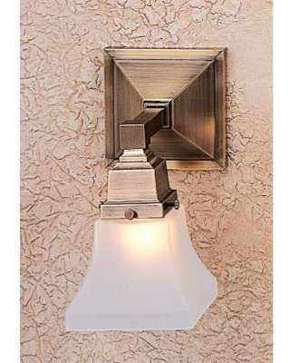 Arroyo Craftsman Ruskin 9 Inch Wall Sconce - RS-1-AC