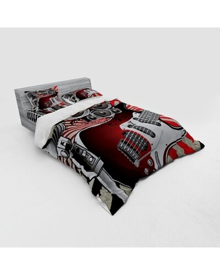 Music Duvet Cover Set East Urban Home Size: Queen Duvet Cover + 3 Additional Pieces