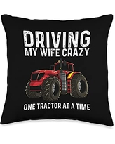 Best Tractor Engine Mining Loading Monster Designs Cool Tractor Gift For Men Grandpa Big Farming Vehicle Truck Throw Pillow, 16x16, Multicolor