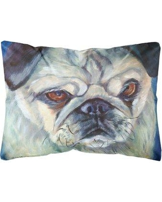 Winston Porter Lugo Pug in Thought Fabric Indoor/Outdoor Throw Pillow BF148399