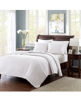 Mitchell 3 Piece Coverlet Set - White (Full/Queen)