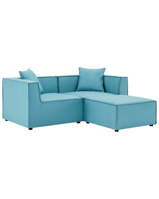 """Bonney 69"""" Wide Outdoor Reversible Patio Sectional with Cushions"""