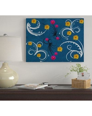 "Winston Porter 'Floral Pattern' Graphic Art Print on Wrapped Canvas WNST7240 Size: 14"" H x 19"" W"