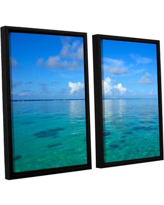 "ArtWall Lagoon & Reef by George Zucconi 2 Piece Framed Photographic Print on Canvas Set 0zuc006b2432f / 0zuc006b2436f Size: 24"" H x 32"" W x 2"" D"