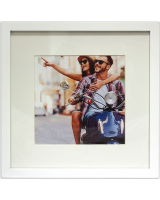 """8"""" x 8"""" Single Picture Matted Frame White - Made By Design"""