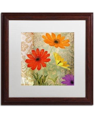 "Trademark Fine Art 'Fiesta I' Framed Graphic Art ALI4657-W1 Size: 16"" H x 16"" W x 0.5"" D Mat Color: White"