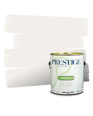 Prestige Paints P400-P-7002-16VP Paint and Primer In One, 1 gallon, Swiss Coffee