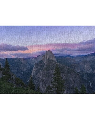 Mountain and Cliffs 238 Purple Area Rug East Urban Home Rug Size: Rectangle 5' x 7'