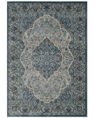 Bungalow Rose Goshen Gray/Blue Area Rug BNGL9042 Rug Size: Rectangle 8' x 11'2""