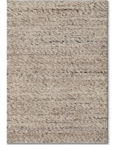 Cream (Ivory) Chunky Knit Wool Area Rug 5'x7' - Project 62
