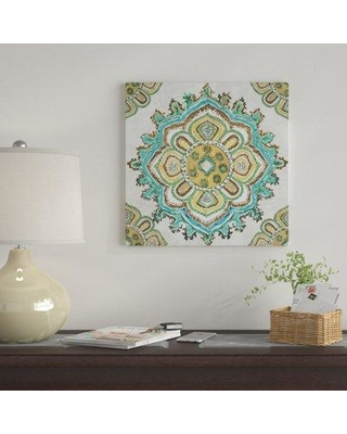 "East Urban Home 'Medallion Inka' Graphic Art Print on Canvas UBAH9910 Size: 26"" H x 26"" W x 1.5"" D"