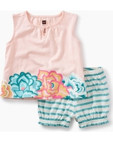 Tea Collection Floral Ruffle Bloomer Baby Outfit