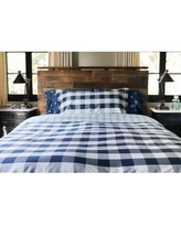 Thread Experiment Buffalo Check Reversible Comforter Set 0200BUFFNAVY01 Size: Full/Queen