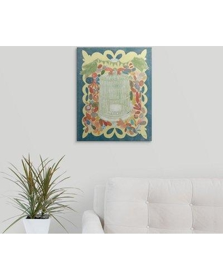 """Great Big Canvas 'Im Home I - Summer Green' Candra Boggs Graphic Art Print 2219258_1 Size: 20"""" H x 16"""" W x 1.5"""" D Format: Canvas"""