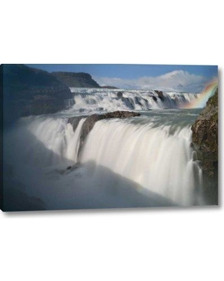 """Millwood Pines 'Iceland the Hvita River and Gullfoss Waterfall' Photographic Print on Wrapped Canvas BF152493 Size: 11"""" H x 16"""" W x 1.5"""" D"""
