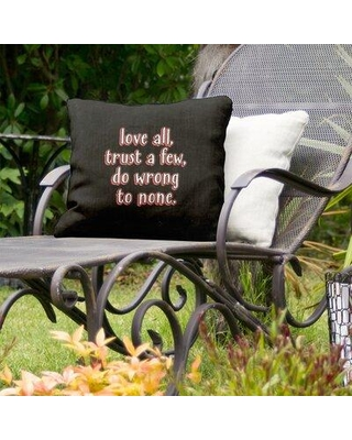 """East Urban Home Do No Wrong Indoor/Outdoor Throw Pillow EBJZ9659 Size: 20"""" x 20"""" Color: Red"""