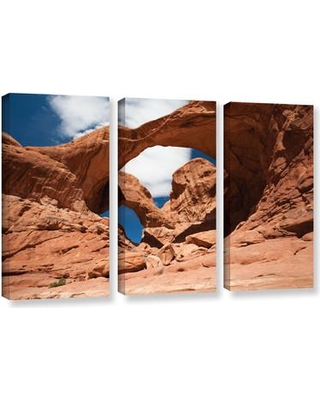 """Loon Peak 'Double Arch Horizontal' by Cody York 3 Piece Photographic Print on Wrapped Canvas Set LNPK2596 Size: 24"""" H x 36"""" W x 2"""" D"""