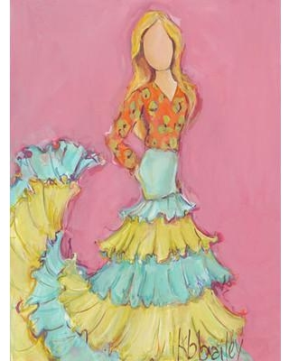 GreenBox Art Flamenco Dancer - Blonde by Kristina Bass Bailey Painting Print on Wrapped Canvas PE2168