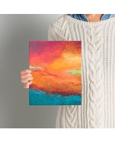 """Zipcode Design 'Lake Reflections' Painting Print on Wrapped Canvas ZIPC1806 Size: 8"""" H x 10"""" W"""