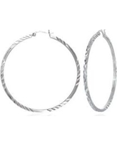 Belk & Co. Sterling Silver Hoop Earrings in Sterling Silver