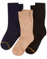 Gold Toe Little & Big Boys 3 Pair Crew Socks, 9-11 , No Color Family