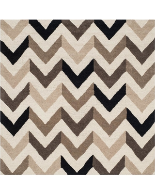 Safavieh Cambridge Ivory/Black 6 ft. x 6 ft. Square Area Rug
