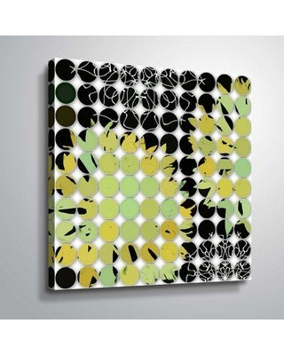 """Ivy Bronx 'Abstract Circles 13' Graphic Art Print IVBX3289 Format: Wrapped Canvas Size: 10"""" H x 10"""" W x 2"""" D"""