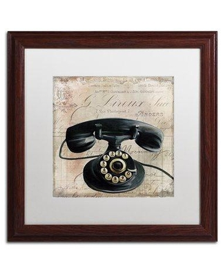 """Trademark Fine Art 'Call Waiting II' by Color Bakery Framed Graphic Art ALI4355-W1 Size: 16"""" H x 16"""" W x 0.5"""" D Mat Color: White"""