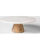 Marble & Acacia Cake Stand - Project 62