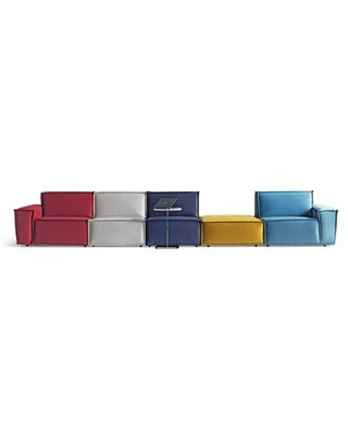 """Allaben 112.6"""" Wide Microfiber/Microsuede Reversible Modular Corner Sectional with Ottoman"""