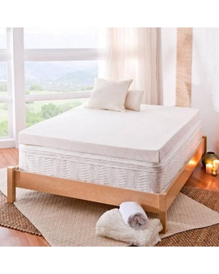 """Spa Sensations By Zinus 4"""" Memory Foam Mattress Topper With Theratouch, Twin"""