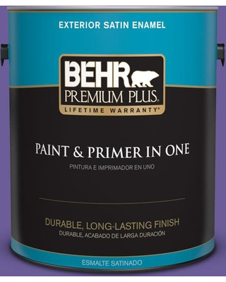 BEHR Premium Plus 1 gal. #P560-6 Just a Fairytale Satin Enamel Exterior Paint and Primer in One