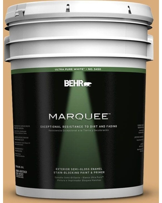 BEHR MARQUEE 5 gal. #PPU6-05 Cork Semi-Gloss Enamel Exterior Paint and Primer in One, Brown