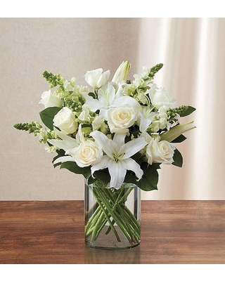 Classic All White Arrangement for Sympathy Small