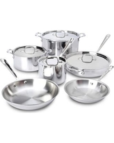 All-Clad D3 Stainless Steel 10 Piece Cookware Set 401488-R