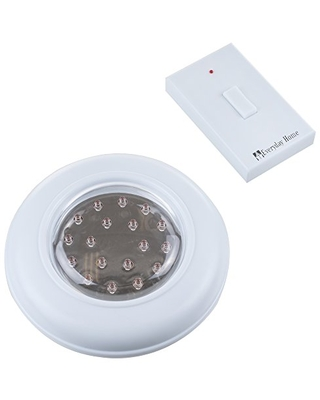 Everyday Home 82-5571 Cordless Ceiling/Wall Light with Remote Control,White