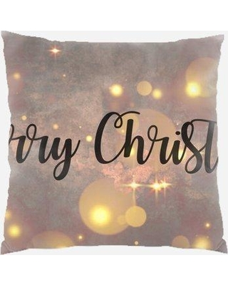 The Holiday Aisle Redelong Merry Christmas Indoor/Outdoor Canvas Throw Pillow W000040177