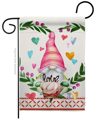 Shop Deals For Gnome Give Love Decorative 2 Sided Polyester 19 X 13 In Garden Flag Ornament Collection