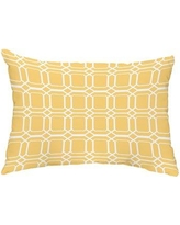 Breakwater Bay Grider O the Fun Outdoor Rectangular Pillow Cover & Insert CJ323598 Color: Yellow