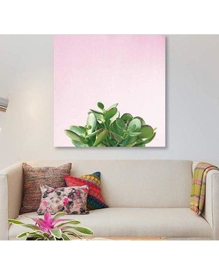 "East Urban Home 'Succulent Simplicity on Pink II' Graphic Art Print on Canvas ETRB5052 Size: 12"" H x 12"" W x 0.75"" D"