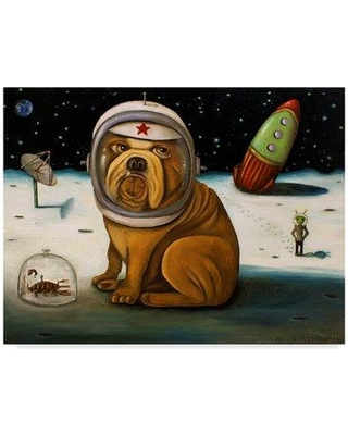 """Winston Porter 'Space Crash' Acrylic Painting Print on Wrapped Canvas WNPO4930 Size: 24"""" H x 32"""" W x 2"""" D"""