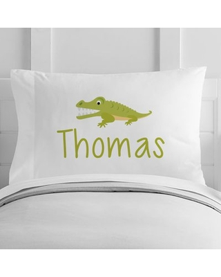 Personalized Alligator Toddler Pillow Case