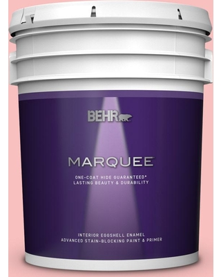BEHR MARQUEE 5 gal. #140A-3 Carnation Bloom Eggshell Enamel Interior Paint and Primer in One