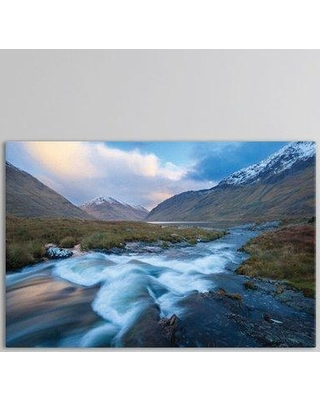 """East Urban Home Winter Sunset Glencullen River Photographic Print on Wrapped Canvas ESRB3042 Size: 40"""" H x 60"""" W x 1.5"""" D"""