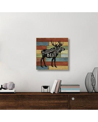 "East Urban Home 'Lake Lodge I' Textual Art on Canvas UBAH6438 Size: 24"" H x 24"" W x 1.5"" D"
