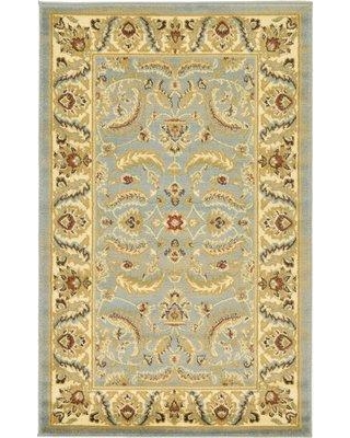 "Three Posts Fairmount Yellow/Blue Area Rug THRE9570 Rug Size: Rectangle 3'3"" x 5'3"""
