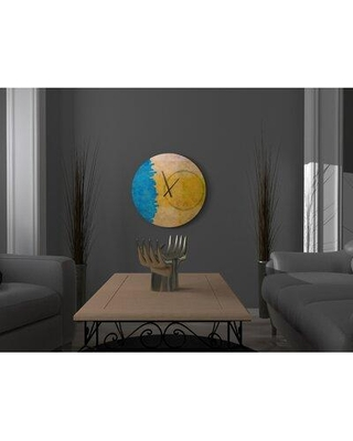 East Urban Home Oversized Wall Clock X114582020 Size: Small