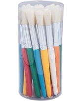 Stubby Paint Brush Canister, Pack of 30