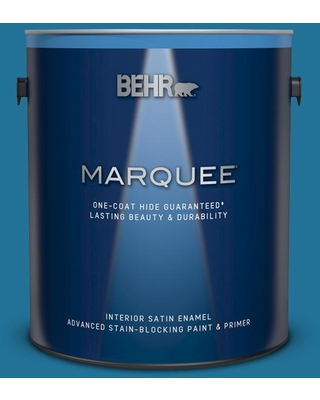 BEHR MARQUEE 1 gal. #S-G-530 Glacier Lake Satin Enamel Interior Paint and Primer in One